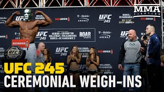 UFC 245 Ceremonial Weigh-In Highlights - MMA Fighting by MMA Fighting