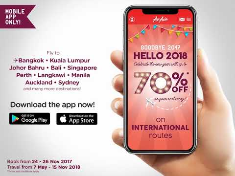 Up to 70% Off on the AirAsia Mobile App