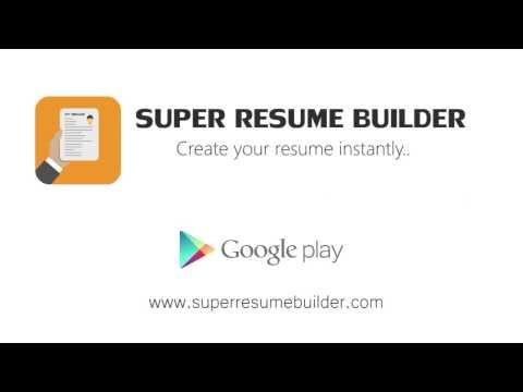 Video of Super Resume Builder, CV