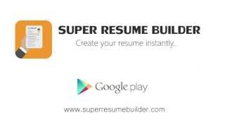 Super Resume Builder Pro, CV YouTube video