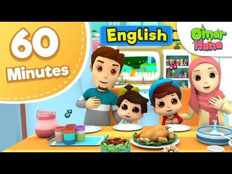 Omar & Hana | 60 Minutes Compilation | Islamic Cartoons for Kids | Nasheed