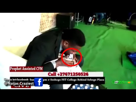 Prophet Vomits Miracle Dollars Live For Broke Church Members In South-Africa - Divine ATM Machine
