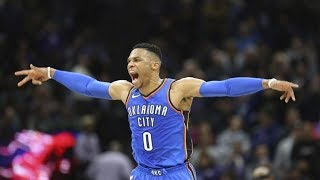 Russell Westbrook Game Winner vs Kings Triple Double! 2017-18 Season