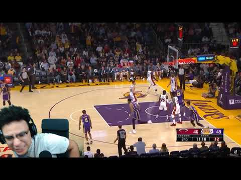 LEBRON IS WASHED! (YEAH RIGHT) Miami Heat vs Los Angeles Lakers - Full Game Highlights REACTION!