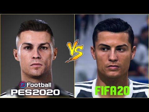 PES 2020 VS FIFA 20 - Juventus FC Player Faces Season 19/20