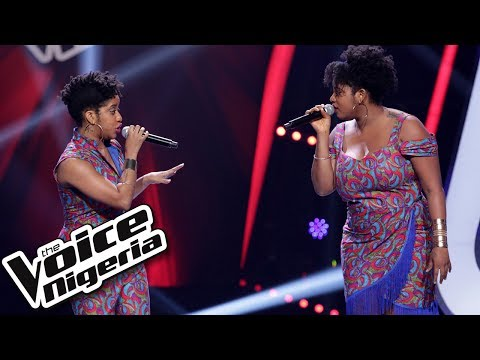 "Tara and Bella sing ""Heartbreak Hotel / Blind Auditions / The Voice Nigeria Season 2"