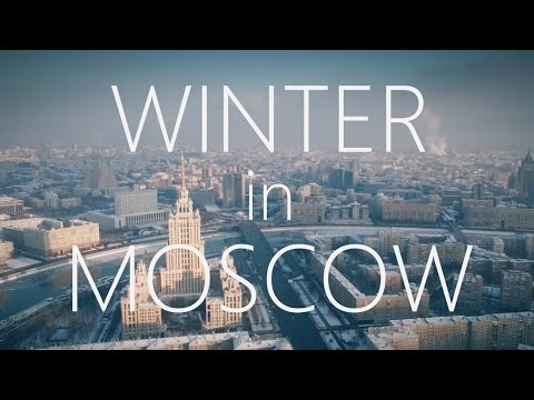 A Gorgeous Aerial View of Moscow in Winter Taken by a Flying