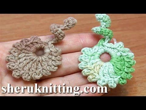 uncinetto - spirale con foglie