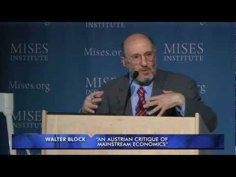 Economics - Archived from the live Mises.tv broadcast, this lecture by Walter Block was presented at the 2012 Mises University in Auburn, Alabama. Includes an introducti...