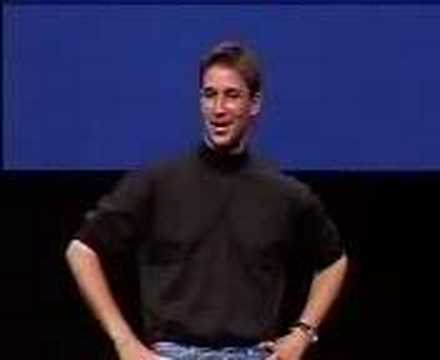 macworld - Here we see the actor Noah Wyle playing the role of Steve Jobs at the start of the Macworld expo. Noah played the role of Steve in the movie Pirates Of Silic...
