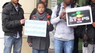 Ethiopians In Trento, Italy Protest Against The Act Of Saudi Arabia