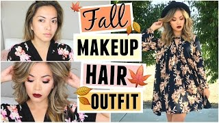 Cozy Fall Makeup, Hair + Outfit! GET READY WITH ME! by ThatsHeart
