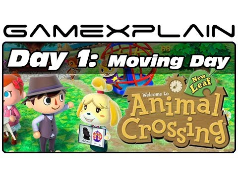 3DS - http://www.GameXplain.com Join us for day one of our video journal as we move into in Animal Crossing: New Leaf for the Nintendo 3DS! Check out how life is i...