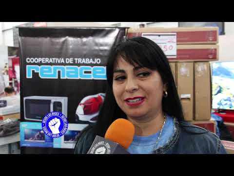 Trabajadores ofrecieron sus productos en Río Grande
