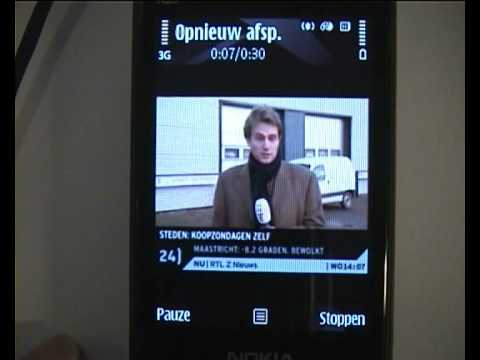 Robert Webbe - Nokia SU-33W Mobile TV Receiver demo by BelCompany.nl.