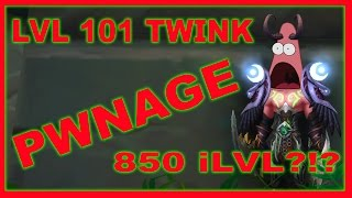 TURN OFF THE XP AFTER U DINGED 101 !!!! (forgot to mention it) Can You Twink in Legion? Like HELL You Can! Level 101 with 850 iLvL Gear. Insane Damage, Insan...