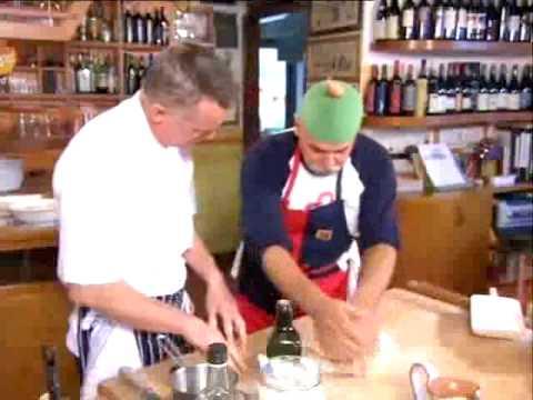la star Chef  Gary Rodhes cucina con Fausto U Giancu