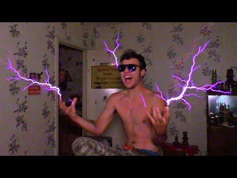 Собрал электрический Тесла-Стул, опасный эксперимент. Напряжение которое не бьет током