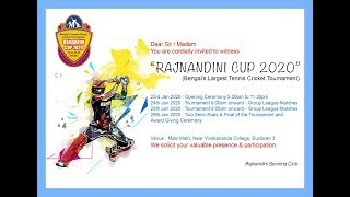 Rajnandini Cup 2020, West Bengal | Day 1 | Live Cricket Streaming