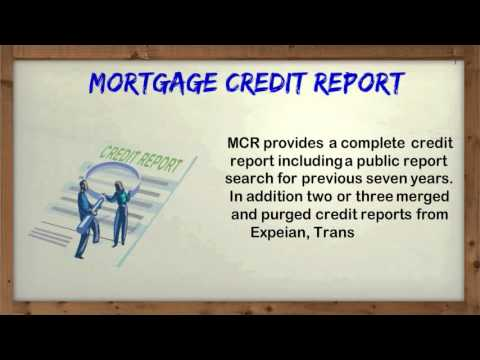 Mortgage Credit Report