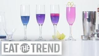 How to Transform a Cocktail From Blue to Pink Using Science | Eat the Trend by POPSUGAR Food