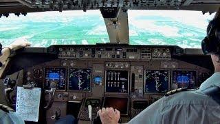 KLM Martinair 747-400 - Landing Bangkok BKK, Cockpit View