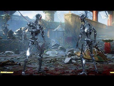 MORTAL KOMBAT 11 Endoskeleton Terminator Gameplay Endoskeleton Terminator Vs Endoskeleton Terminator