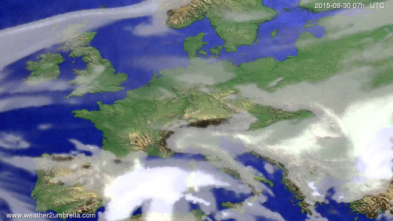 Cloud forecast Europe 2015-09-27