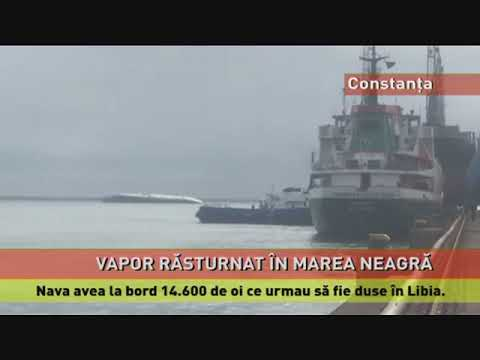 Operațiune de aducere la mal a navei cu 14.000 de oi, răsturnată în Marea Neagră