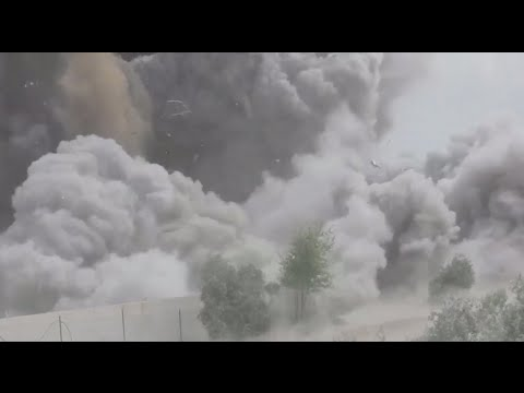 israel - Video published by IDF shows method used to strike terrorist tunnels: Forces detonate explosive at opening, demolish infrastructure with bulldozer. Army official says 'IDF will reach every...