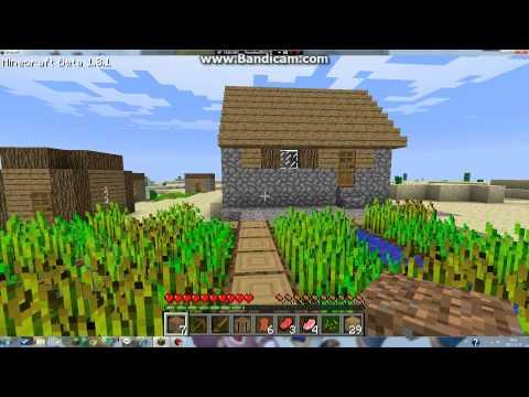 Nu ska vi spela Minecraft del 1 (OBS! Gammal video!)