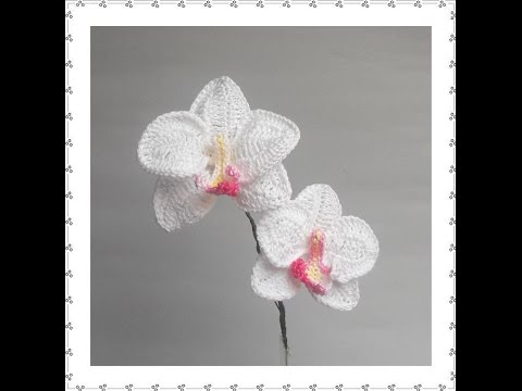 how to make a real orchid in crocheted