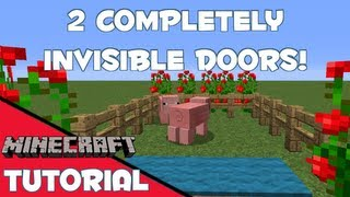 2 Completely Invisible Doors [Minecraft // 1.6.2 Tutorial]