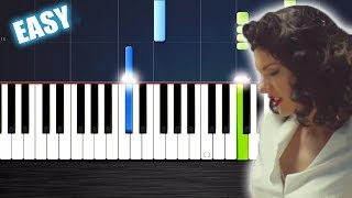 Taylor Swift - Wildest Dreams - EASY Piano Tutorial  Ноты и М�Д� (MIDI) можем выслать Вам (Sheet mus