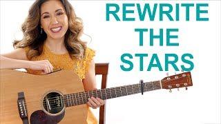 Video Rewrite the Stars - 'The Greatest Showman' Easy Guitar Tutorial and Play Along MP3, 3GP, MP4, WEBM, AVI, FLV Juli 2018