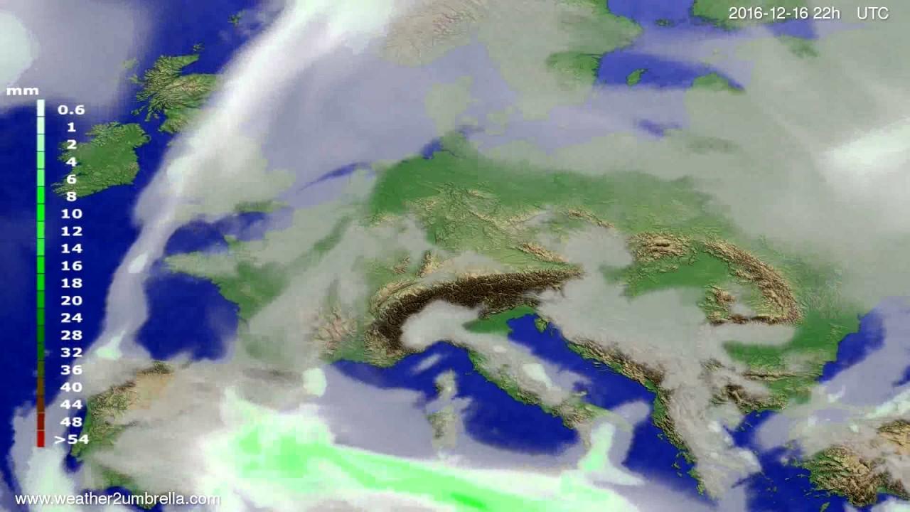 Precipitation forecast Europe 2016-12-14