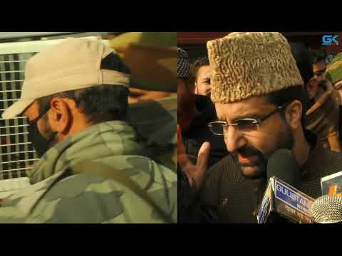 Hurriyat (M) chief Mirwaiz Umar Farooq defies restrictions, detained