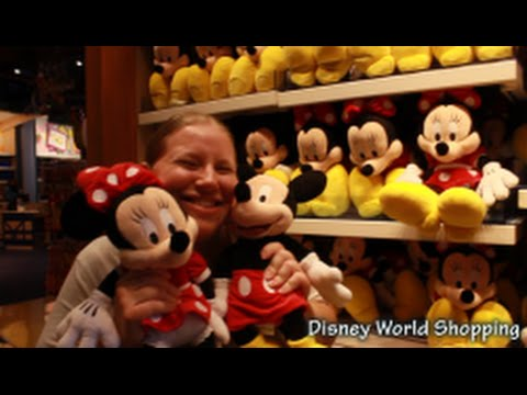 Disney Plush Selection at Once Upon A Toy in Downtown Disney Marketplace!