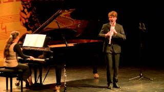 Jelmer de Moed (klarinet)- Nationale Finale Prinses Christina Concours 2014