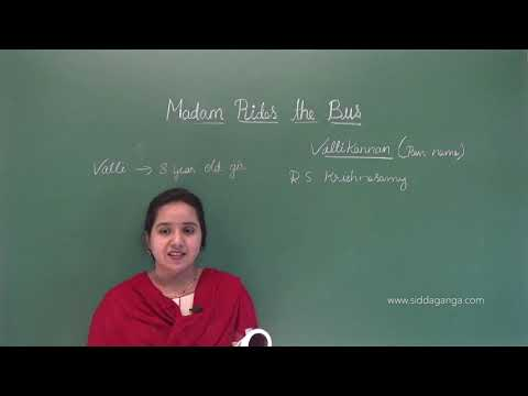 CBSE 10 - ENGLISH - MADAM RIDES THE BUS - PART 2