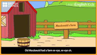 Old MacDonald with lyrics, LearnEnglish Kids