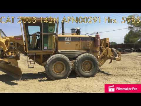 CATERPILLAR MOTOR GRADERS 143H equipment video TJKMps8TjT0