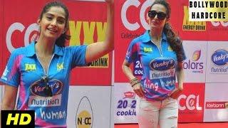 (CCL 5) Celebrity Cricket League 2015 Red Carpet - Sonam Kapoor, Malaika Arora Khan