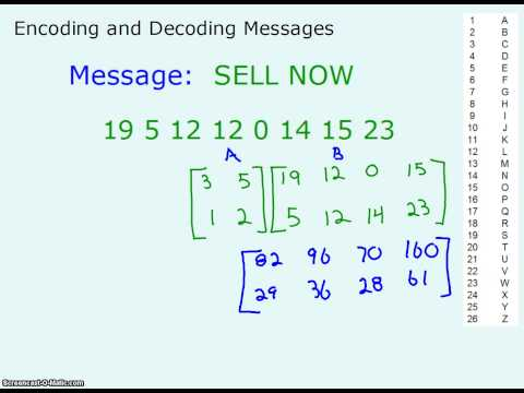 Encoding and Decoding w Matrices