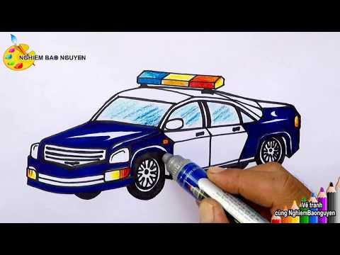 Vẽ xe cảnh sát/How to draw Police car