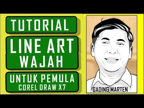 Tutorial Line Art Corel Draw X7 - Gading Marten