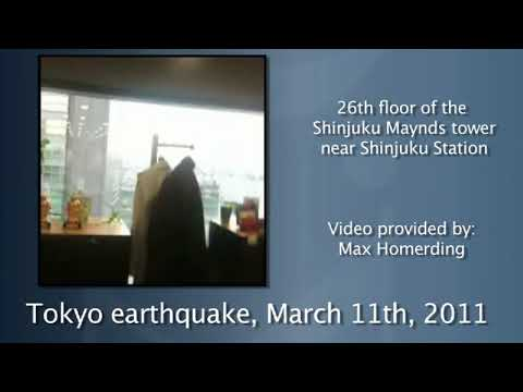 Video of Tokyo earthquake (2011-03-11)