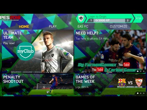 FIFA 14 MOD PES 2018 Android Offline 1 GB New Menu PES