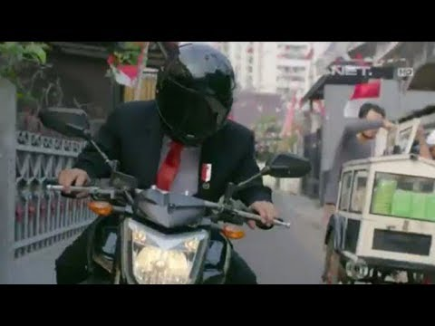 COOLEST PRESIDENT EVER! Jokowi The President Of Indonesia Ride Motorcycle For Asian Games Opening