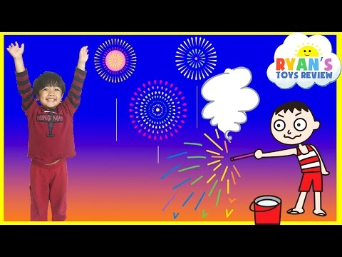 Playing with Fireworks Family Fun Night 4th of July Ryan ToysReview